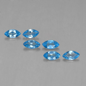 Swiss Blue Topaz Gem - 0.4ct Marquise Facet (ID: 339533)