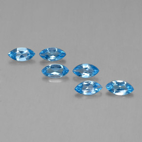 Swiss Blue Topaz Gem - 0.4ct Marquise Facet (ID: 339537)