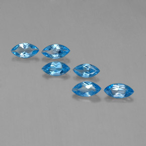 Swiss Blue Topaz Gem - 0.4ct Marquise Facet (ID: 339546)