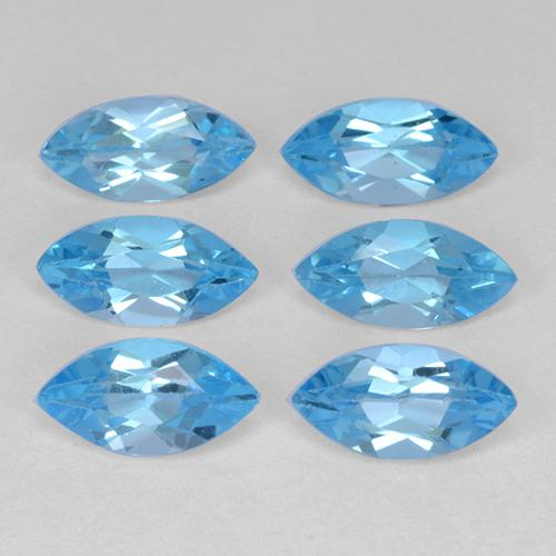 Swiss Blue Topaz Gem - 0.5ct Marquise Facet (ID: 339550)