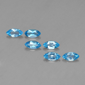 Swiss Blue Topaz Gem - 0.4ct Marquise Facet (ID: 339552)