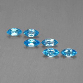 Swiss Blue Topaz Gem - 0.5ct Marquise Facet (ID: 339597)