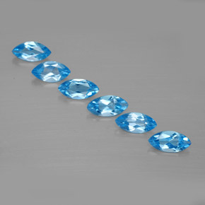 Swiss Blue Topaz Gem - 0.5ct Marquise Facet (ID: 339606)