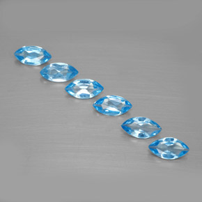 Swiss Blue Topaz Gem - 0.4ct Marquise Facet (ID: 339608)