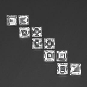 0.8ct Square Facet White Topaz Gem (ID: 341386)