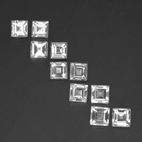 0.8ct Square Facet White Topaz Gem (ID: 341426)
