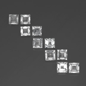 0.83 ct Square Facet White Topaz Gemstone 5.14 mm x 5.1 mm (Product ID: 341505)