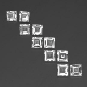 White Topaz Gem - 0.8ct Square Facet (ID: 341511)