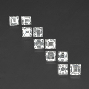 thumb image of 4.8ct Square Facet White Topaz (ID: 341689)