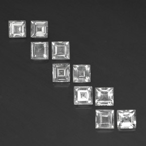 Clear White Topaz Gem - 0.4ct Square Facet (ID: 341872)