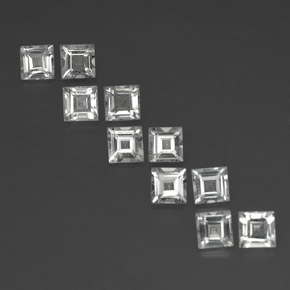 thumb image of 4.2ct Square Facet White Topaz (ID: 341895)