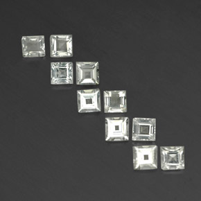White Topaz Gem - 0.4ct Square Facet (ID: 341966)