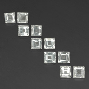 White Topaz Gem - 0.4ct Square Facet (ID: 342023)