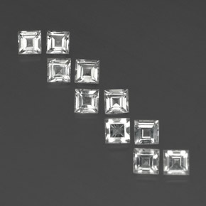 White Topaz Gem - 0.4ct Square Facet (ID: 342036)