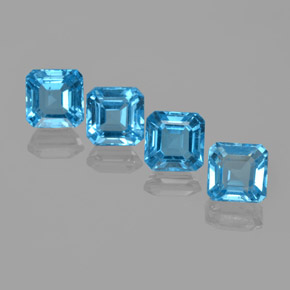 Swiss Blue Topaz Gem - 2.1ct Octagon Facet (ID: 365569)