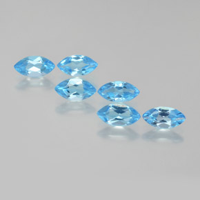 Swiss Blue Topaz Gem - 0.4ct Marquise Facet (ID: 368777)