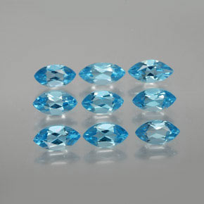 Swiss Blue Topaz Gem - 0.4ct Marquise Facet (ID: 368823)