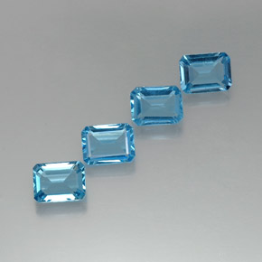 Swiss Blue Topaz Gem - 1.8ct Octagon Facet (ID: 372270)
