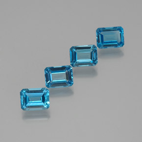 2.1ct Octagon Facet Swiss Blue Topaz Gem (ID: 372275)