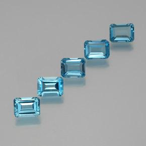 1.97 ct Octagon Facet Swiss Blue Topaz Gemstone 8.07 mm x 6.2 mm (Product ID: 372279)