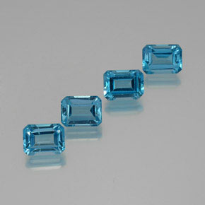 2.1ct Octagon Facet Swiss Blue Topaz Gem (ID: 372297)