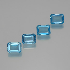 Swiss Blue Topaz Gem - 2ct Octagon Facet (ID: 372299)