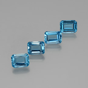 Swiss Blue Topaz Gem - 1.9ct Octagon Facet (ID: 372307)