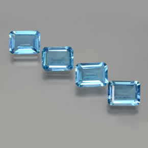 Swiss Blue Topaz Gem - 1.8ct Octagon Facet (ID: 372320)