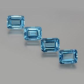 Swiss Blue Topaz Gem - 2.1ct Octagon Facet (ID: 372325)