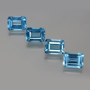 Swiss Blue Topaz Gem - 1.9ct Octagon Facet (ID: 372327)