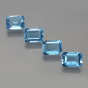 Swiss Blue Topaz Gem - 1.9ct Octagon Facet (ID: 372328)