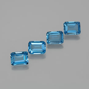 Swiss Blue Topaz Gem - 1.9ct Octagon Facet (ID: 372353)