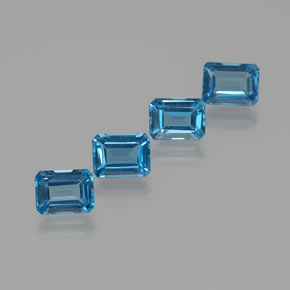 2ct Octagon Facet Swiss Blue Topaz Gem (ID: 372355)