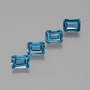Swiss Blue Topaz Gem - 2ct Octagon Facet (ID: 372370)