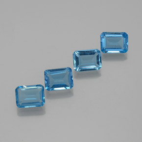 Swiss Blue Topaz Gem - 1.8ct Octagon Facet (ID: 372371)