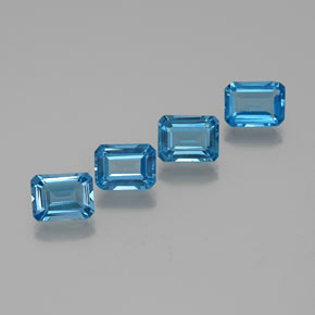 Swiss Blue Topaz Gem - 1.9ct Octagon Facet (ID: 372376)