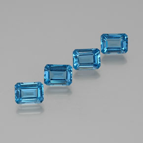 Swiss Blue Topaz Gem - 1.9ct Octagon Facet (ID: 372377)