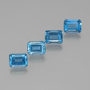 Swiss Blue Topaz Gem - 2.2ct Octagon Facet (ID: 372379)