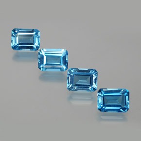 Swiss Blue Topaz Gem - 2.1ct Octagon Facet (ID: 372418)