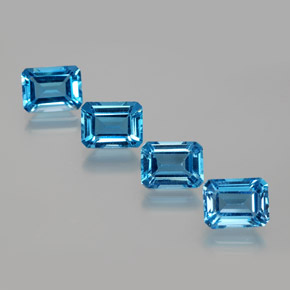 2.1ct Octagon Facet Swiss Blue Topaz Gem (ID: 372420)