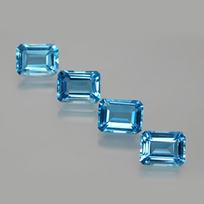 Swiss Blue Topaz Gem - 2ct Octagon Facet (ID: 372424)