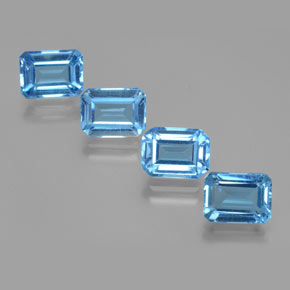 2.1ct Octagon Facet Swiss Blue Topaz Gem (ID: 373162)
