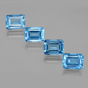 Swiss Blue Topaz Gem - 2.2ct Octagon Facet (ID: 373163)