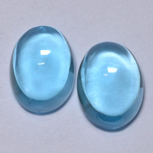 Swiss Blue Topaz Gem - 1.1ct Oval Cabochon (ID: 376806)