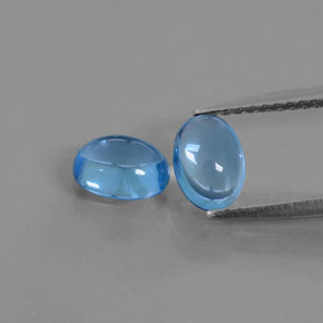 Deep Azure Blue Topaz Gem - 1.1ct Oval Cabochon (ID: 377015)