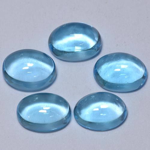 Swiss Blue Topaz Gem - 1.3ct Oval Cabochon (ID: 377255)