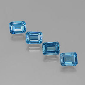 Swiss Blue Topaz Gem - 2ct Octagon Facet (ID: 381509)