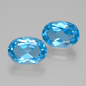 Intense Blue Topaz Gem - 2.8ct Oval Facet (ID: 384861)
