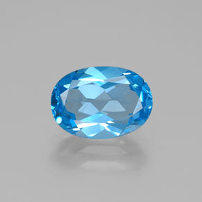 Swiss Blue Topaz Gem - 2.8ct Oval Facet (ID: 384870)