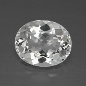 4.7ct Oval Facet Clear White Topaz Gem (ID: 384885)